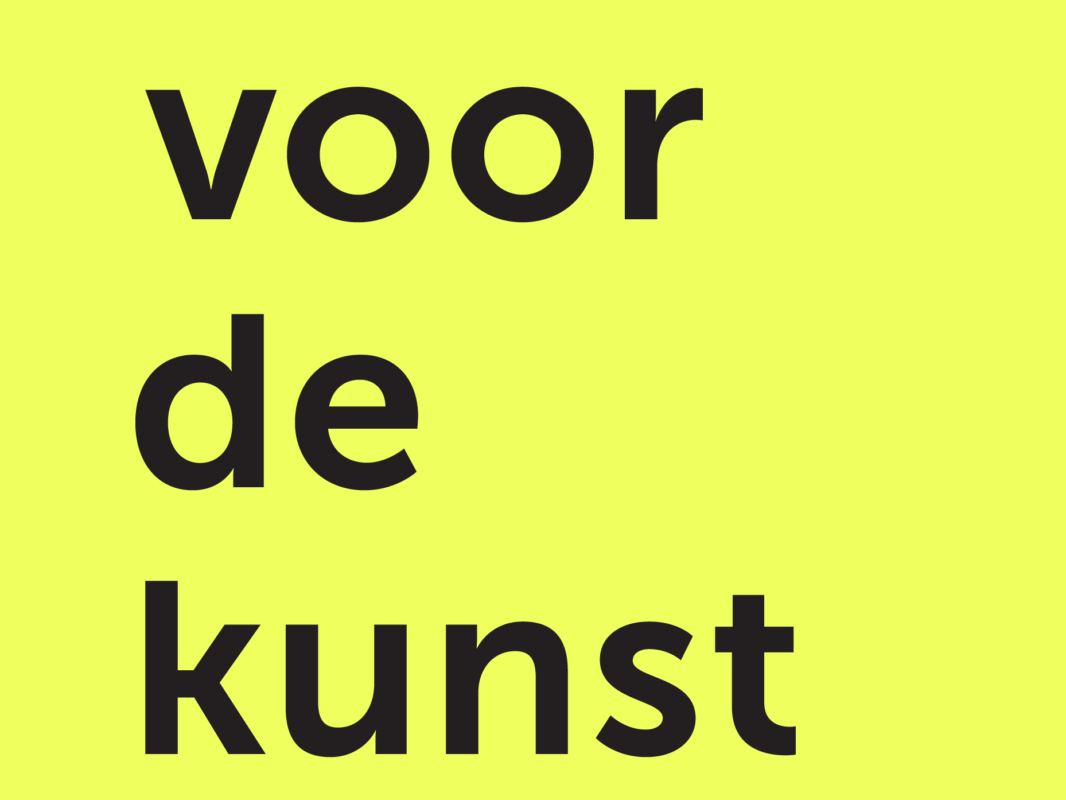 Voordekunst logo square yellow
